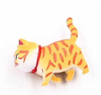 Cat Fridge Magnet   Striped Ginger   FM044