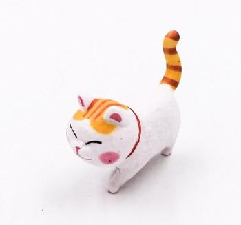 Cat Fridge Magnet   White & Ginger   FM047