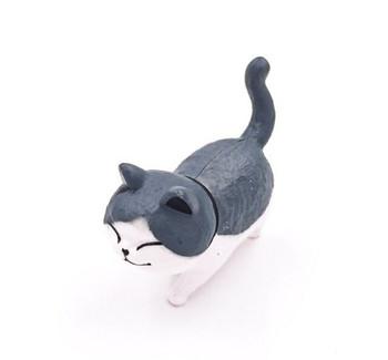 Cat Fridge Magnet   Grey & White   FM048