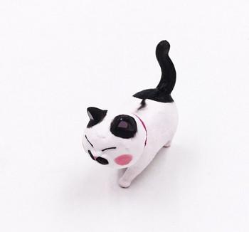 Cat Fridge Magnet   Black Spots, Pink Collar   FM049