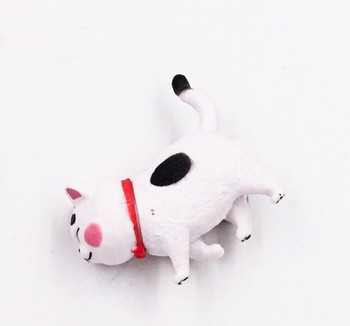 Cat Fridge Magnet   Black Spots, Red Collar   FM050