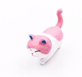 Cat Fridge Magnet | Pink & White| FM051
