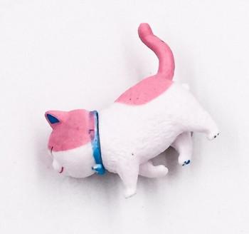 Cat Fridge Magnet   Pink & White  FM051