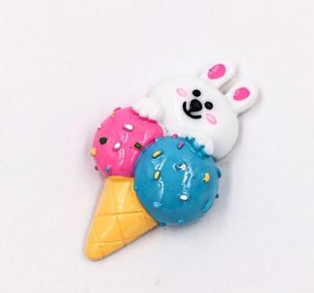 Ice Cream Fridge Magnet   Bunny   FM056