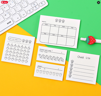 Cute Scheduling Sticky Notes | H202006109-112