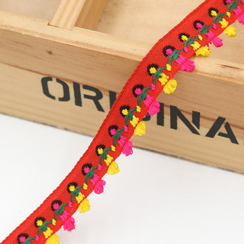 Red Hand-in-Hand Tape Ribbon | Sold by metre | H20201145