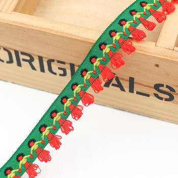 Green Hand-in-Hand Tape Ribbon | Sold by metre | H20201146