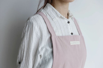 Washed Cotton Apron | Soft Pink | H20201022