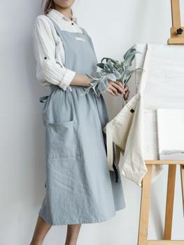 Washed Cotton Apron | Soft Blue | H20201024
