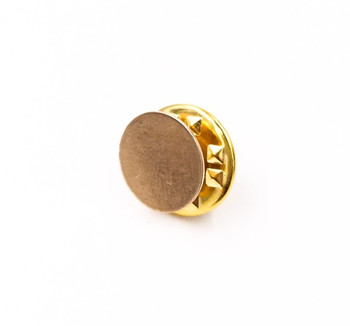 Base Metal Bright Gold Finish Tie Tac Clutch | with 10mm-pad Pin | Sold by Each | 661229BG