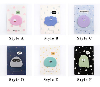 Cute Emoticon Sticky Notes   6 Styles   H20201646-51
