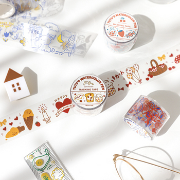 Clear Washi Tape | 6 Styles | H20201661-66