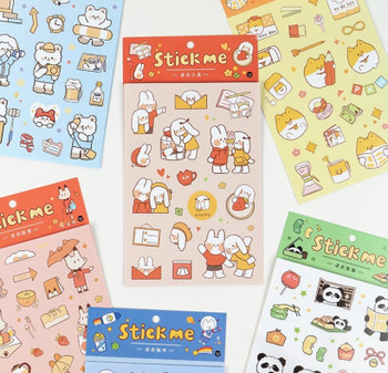InFeelMe Animal Sticker Pack | 6 Styles | H20201671-76