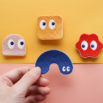 Blobby Embroidery Patches | 4 Styles | H20201456-59