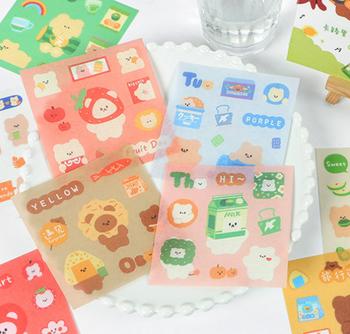 InFeelMe Teddy Bear Washi Stickers | 5 Styles | H20201464-68