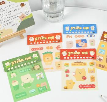 InFeelMe Teddy Bear Washi Stickers   5 Styles   H20201464-68