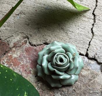Flower Incense Holder   Small Celadon Rose   H20201372