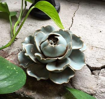 Flower Incense Holder | Large Celadon Lotus | H20201380