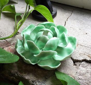 Flower Incense Holder   Large Green Lotus   H20201383