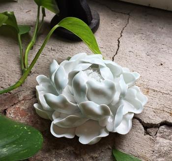 Flower Incense Holder   Large White Peony   H20201384