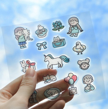 """InFeelMe """"Gift of Life"""" Bubble Stickers   6 Styles   H20201580-85"""