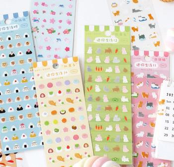 Mini Transparent Stickers   6 Styles   H20201586-91