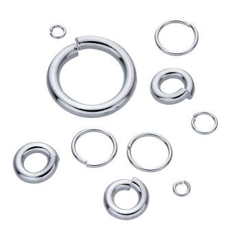 Sterling Silver 22ga Round Jump Ring | 4.7mm OD | 3.5mm ID | Bulk Prc Avlb | Sold by 100Pcs | 693611/100EA