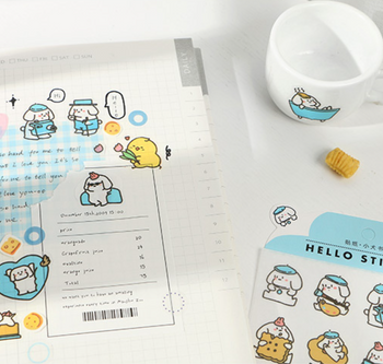 Hisome Washi Animal Stickers  | H20201471-76