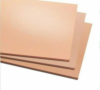 Copper Sheet 300x300x0.8mm (11.8x11.8x0.032in.)   MM0001
