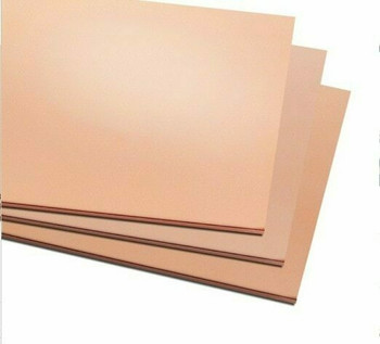 Copper Sheet 300x300x0.8mm (11.8x11.8x0.032in.) | MM0001