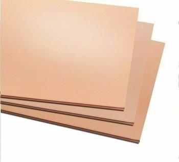 Copper Sheet 300x300x1.2mm (11.8x11.8x0.047in.)   MM0003