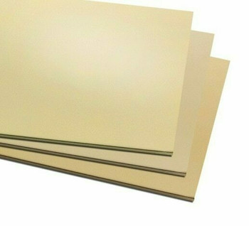 Brass Sheet 300x300x0.8mm (11.8x11.8x0.032in.) | MM0004