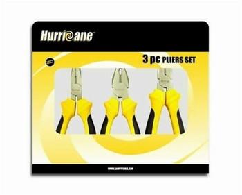 Hurricane 3pcs pliers set 180mm   HU401160
