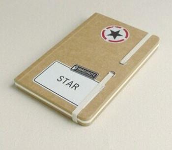 "Road Signs ""Star"" Sketchbook | 18.5x12cm | 256 Brown & White Pages | JI0005"