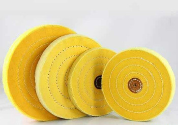 "Yellow Treated Buffing Wheel 6""(15cm) 50 Ply 