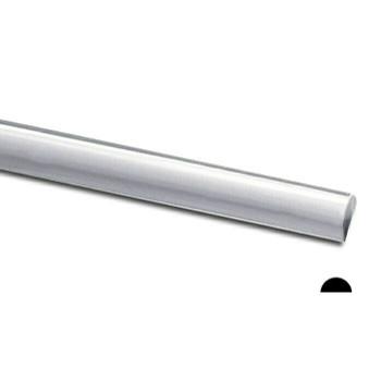 925 Sterling silver Half-Round Wire, 8Ga(3.263mm)   Sold by cm   100408  Bulk Prc Avlb