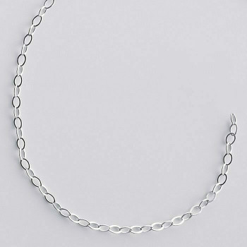 925 Sterling silver 1.4mm Flat Cable Chain | Sold by Ft | 61308250