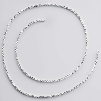 925 Sterling silver 1mm Cable Chain | Sold by Ft | 61309850