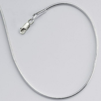 """(CLOSING)925 Sterling silver 1mm Seamed Round Snake Chain, 18"""" 