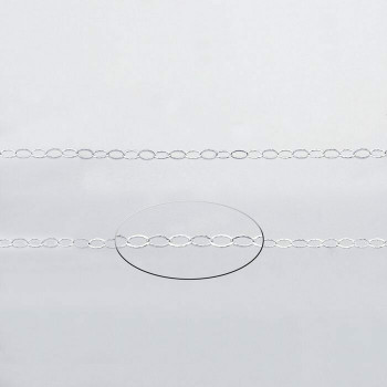 925 Sterling silver 2.3mm Oval Flat Cable Chain | Sold by Ft | 61306950