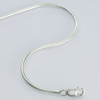 """(CLOSING)925 Sterling silver 1.4mm Unseamed Round Snake Chain, 24"""""""" 