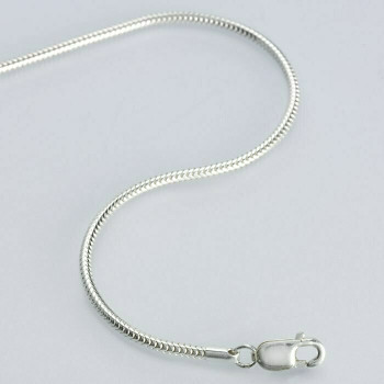 """(CLOSING)925 Sterling silver 1.4mm Unseamed Round Snake Chain, 18"""""""" 