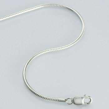 925 Sterling silver 1.4mm Unseamed Round Snake Chain, 18"""
