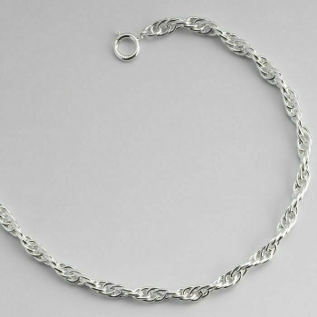 """925 Sterling silver 2.1mm Double Rope Chain, 18"""""""" 
