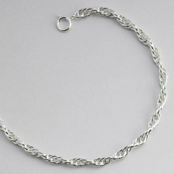 """925 Sterling silver 2.1mm Double Rope Chain, 24"""""""" 