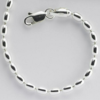 """925 Sterling silver 1.8mm Oval Bead Chain, 16"""""""" 