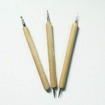 Ceramic Sgraphito Press Mark Pen Set of 3 | Bo0010