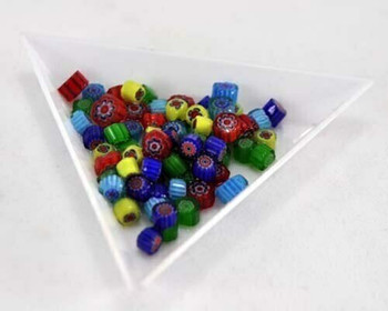 MFC - Millefiore Pattern Enamel Glass Beads   0.5 oz (about 100pc)   MFC05