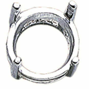925 Sterling silver 8mm Round Pre-Notched Legendary Setting, 4-Prong   910102