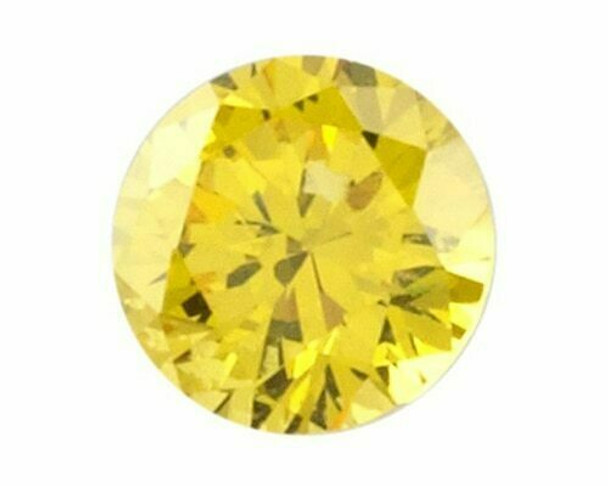 Lab-Created Round 5mm Yellow CZ Faceted Stone, Sold By each   66762